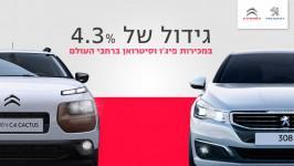 גידול של 4.3% במכירות פיג'ו וסיטרואן ברחבי העולם בשוק האירופאי גדלו מכירות PSA ב 8.1% ובסין נרשם גידול של 32%